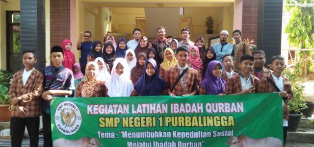 Pelakasanaan Latihan Ibadah Qurban di SMP Negeri 1 Purbalingga dilaksanakan setiap tahun. Adapun tempat penyembelaihan hewan qurban dilaksanakan berganti-ganti, sekali di sekolah dan sekali di luar sekolah ditujukan bagi masyarakat […]